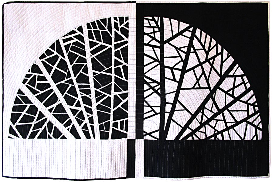 Black And White Art Quilts
